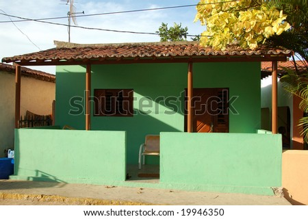 Traditional popular village house in Brasil - stock photo