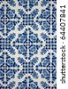 Traditional Portuguese azulejos, painted ceramic tilework. - stock photo