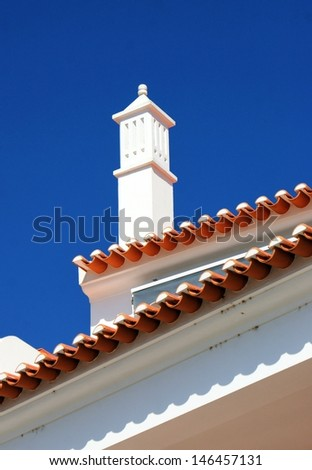 Traditional Portuguese chimney in Mertola, Portugal  - stock photo