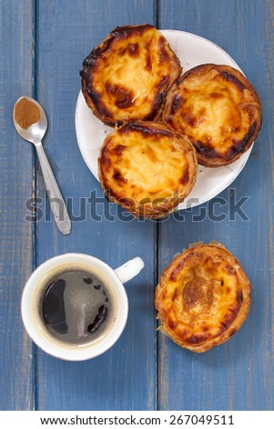 traditional portuguese cookies with coffee - stock photo