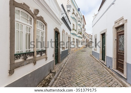 Traditional Portuguese streets of Tavira.