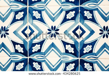Traditional Portuguese tiles  - stock photo