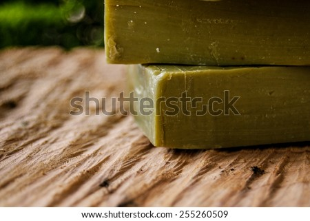 Traditional pure olive oil soap from greece  - stock photo