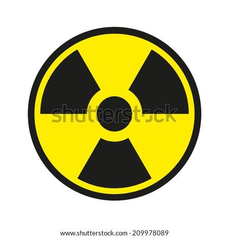 traditional radiation symbol - stock photo