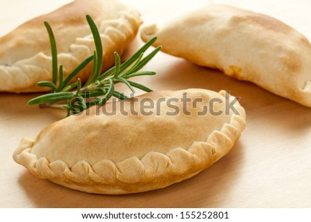 traditional recipe of south america - empanada - stock photo