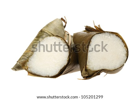 traditional rice dumplings - stock photo