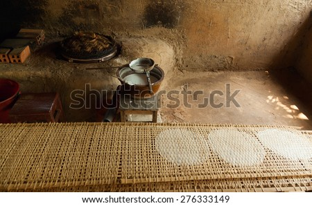 Traditional Rice Paper Pancakes Forest Cu Chi Tunnels Vietnam, Authentic Food