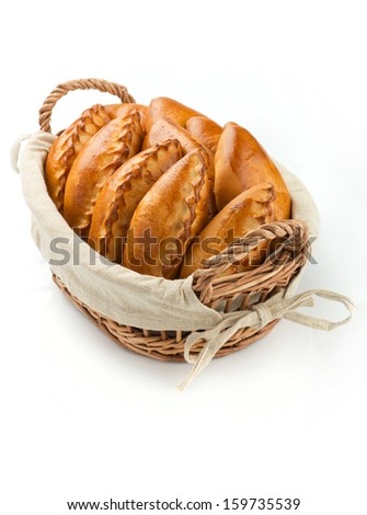 Traditional russian pie - stock photo