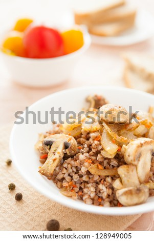 traditional Russian porridge, closeup food