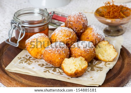 Traditional Saxon Quarkkaulchen - stock photo