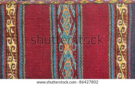 Traditional South America Textile pattern - stock photo