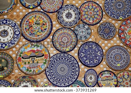Traditional souvenirs in Granada, Andalusia, Spain   - stock photo