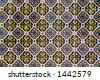 Traditional Spanish ceramic tile pattern. - stock photo