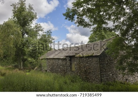 Traditional English Timber Frame Farm Barn Stock Photo
