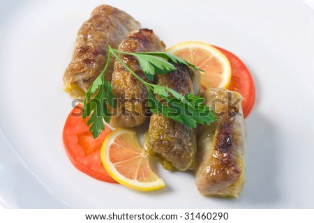 traditional stuffed cabbage - stock photo