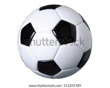Traditional style soccer ball isolated on white with clipping path - stock photo