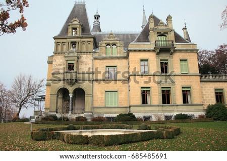 Traditional Swiss Architecture Near InterlakenSwitzerland