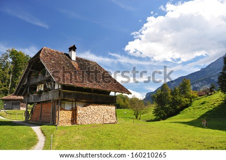 Traditional Swiss country house  - stock photo