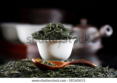 Traditional tea ceremony accessories(Japan) - stock photo