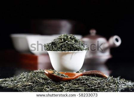 Traditional tea ceremony accessories(Japan) - stock photo