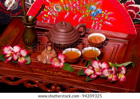 Traditional tea ceremony in Japan - stock photo