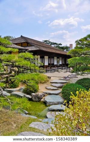 Traditional Tea House at Kyoto's Kodaiji Temple, Japan. - stock photo