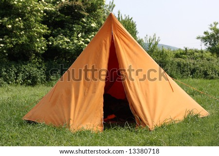 Traditional Tent Front - stock photo