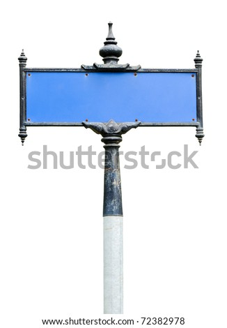 Traditional Thai street board on the white background. - stock photo