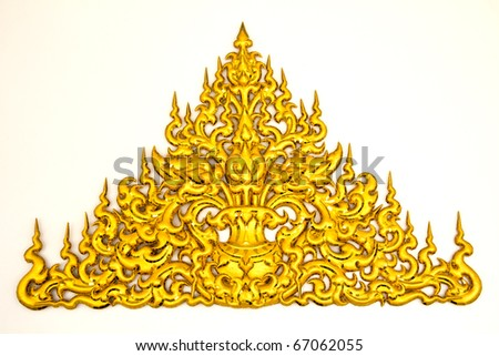 traditional Thai style molding art at Wat Rong Khun temple in Chiang Rai, Thailand
