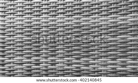 Traditional Thai Style Monotone Black and White Handicraft Wood Rattan Weave Pattern Background Texture Surface for Furniture Material - stock photo