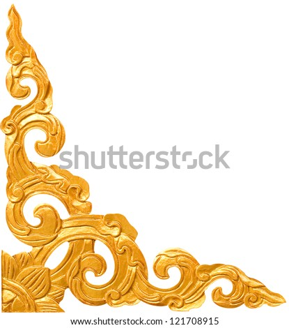 Traditional Thai style pattern decorative isolated on white background - stock photo