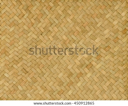traditional thai style pattern nature background of brown handicraft weave texture wicker surface for furniture material - stock photo