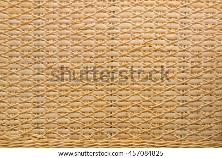 traditional thai style pattern nature background of brown handicraft weave texture wicker surface for furniture material,soft focus - stock photo