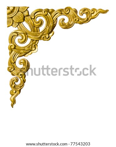 Traditional Thai style pattern on white background - stock photo