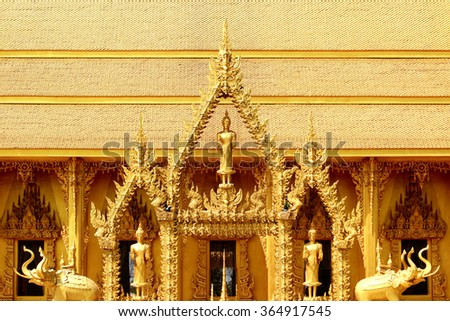 Traditional Thai style stucco in temple - stock photo