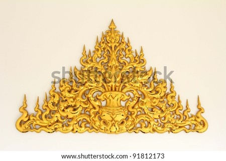 Traditional thai style, Wat Rong Khun, Thailand.