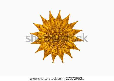 Traditional Thai style Wood bas relief - stock photo