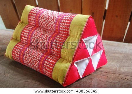 Traditional Thai triangle pillow