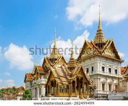 Traditional Thailand building in Bangkok - stock photo