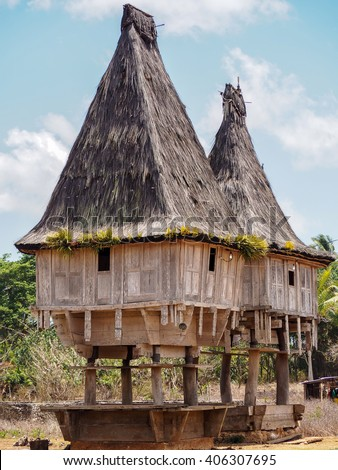 Traditional Timorese sacred houses