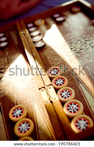 Traditional Turkish Backgammon Board - stock photo