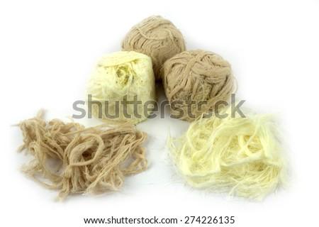 Traditional Turkish cotton candy ( Pismaniye ) - stock photo