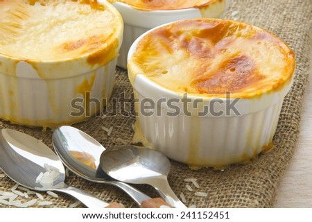 Traditional Turkish dessert rice pudding. - stock photo