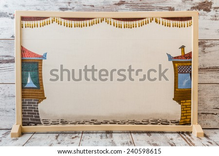 Traditional Turkish shadow play, popularized during the Ottoman period  - stock photo
