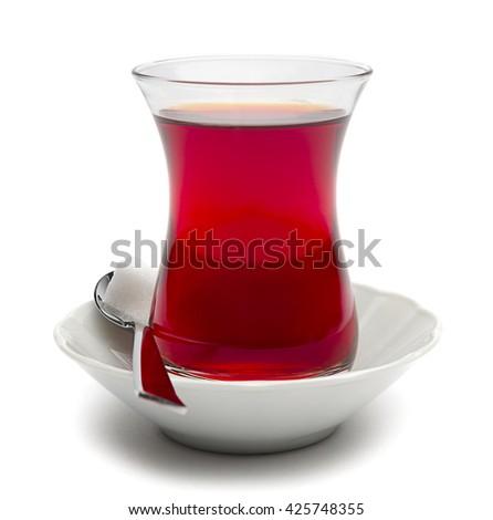 Traditional Turkish Tea Isolated    - stock photo