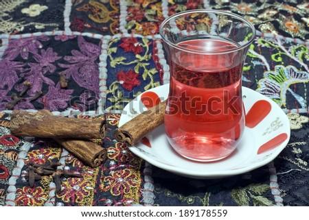 Traditional Turkish Tea - still life - stock photo