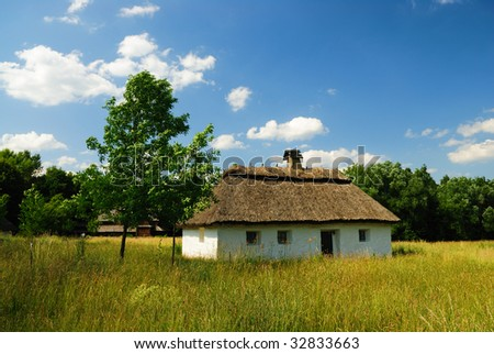 Traditional ukrainian village house