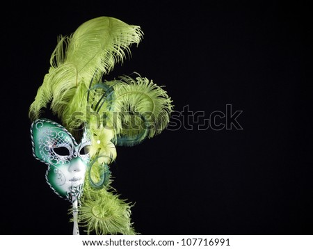 Traditional Venetian carnival mask. - stock photo