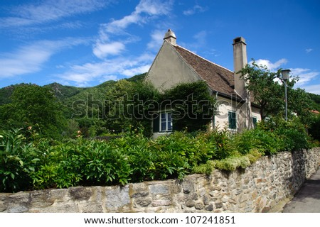 Traditional village house in Lower Austria - stock photo