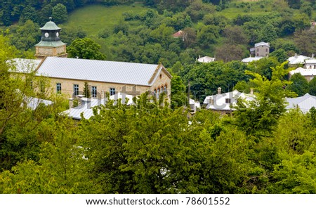 Traditional village of Nymfaio in north Greece - stock photo